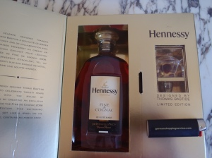 Hennessy Fine de Cognac limited edition from 2008 with stopper designed by Thomas Bastide